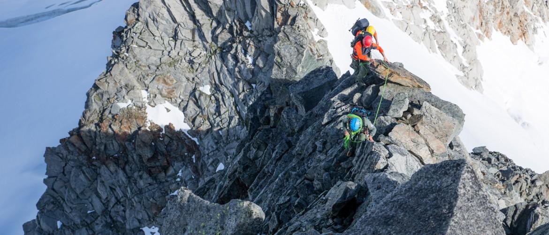 Alpine Kletterer mit der Alpinschule Rock 'n Roll