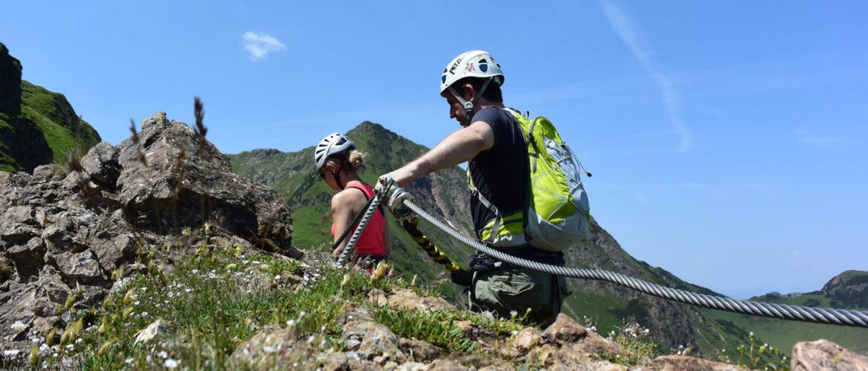 Klettersteiggehen mit der Alpinschule Rock 'n Roll