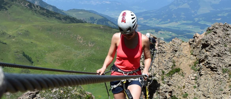Klettersteiggehen in den Kitzbüheler Alpen mit der Alpinschule Rock 'n Roll