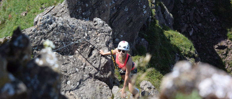 Auf den Klettersteigen in der Region um Kitzbühel mit der Alpinschule Rock 'n Roll