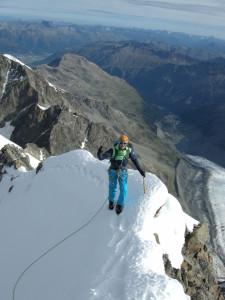 Unterwegs am Biancograt mit der Alpinschule Rock 'n Roll