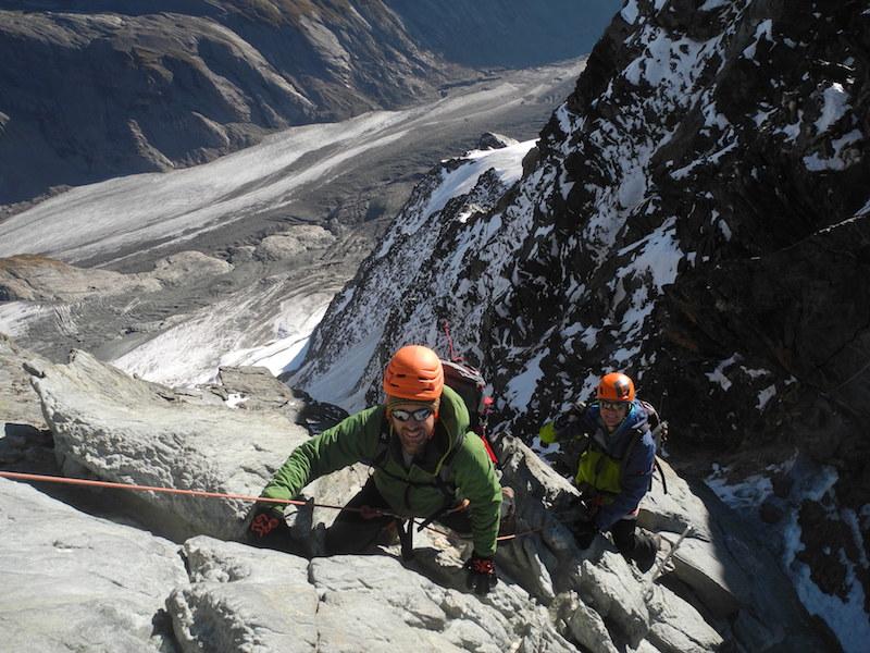 Kletterer am legendären Melezkigrat