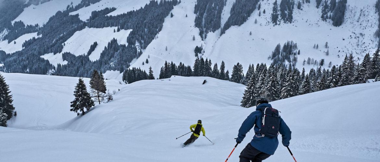 Gemeinsam mit den lokalen Bergführern der Alpinschule RocknRoll genießt du den feinsten Powder im Backcountry von Fieberbrunn und Saalbach.
