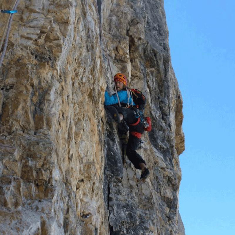 Alpinklettern in den Dolomiten