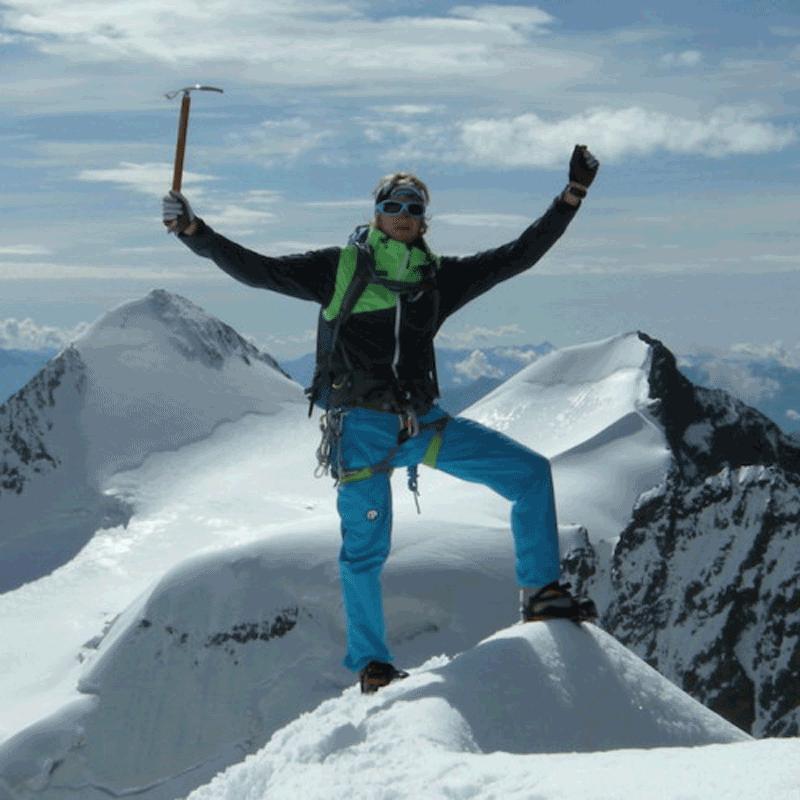 Bergsteigen im Piz Bernina Bianco