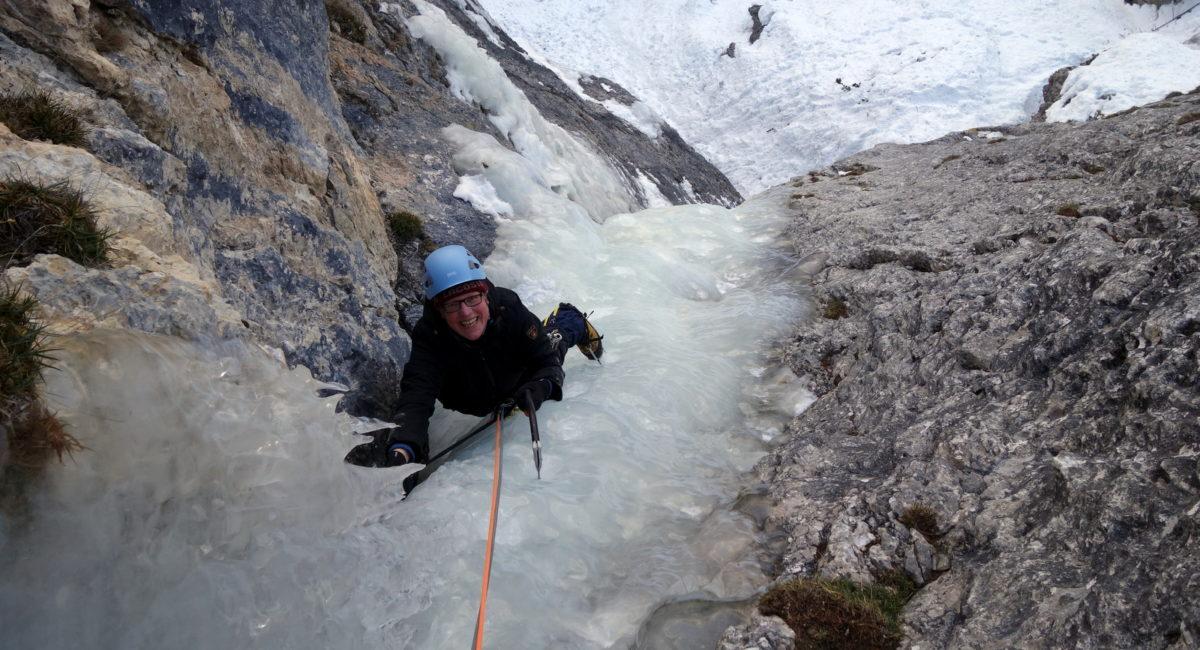 Eisklettern Dolomiten Kolfuschg