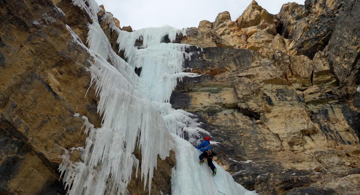 Eisklettern Dolomiten Langental