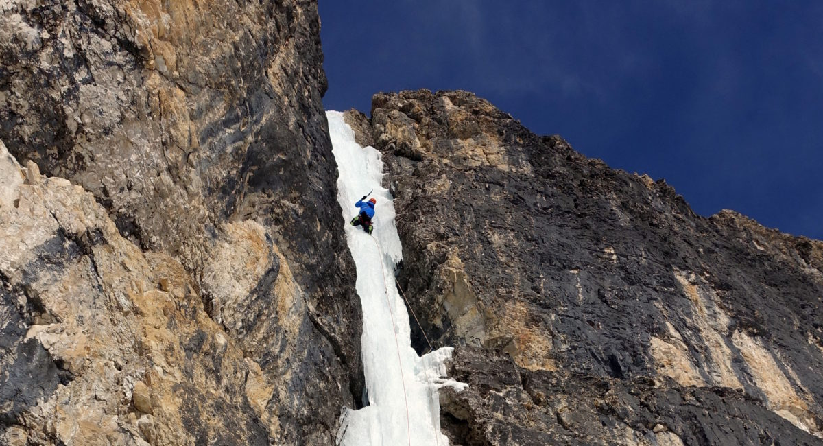 Eisklettern Dolomiten Sella1