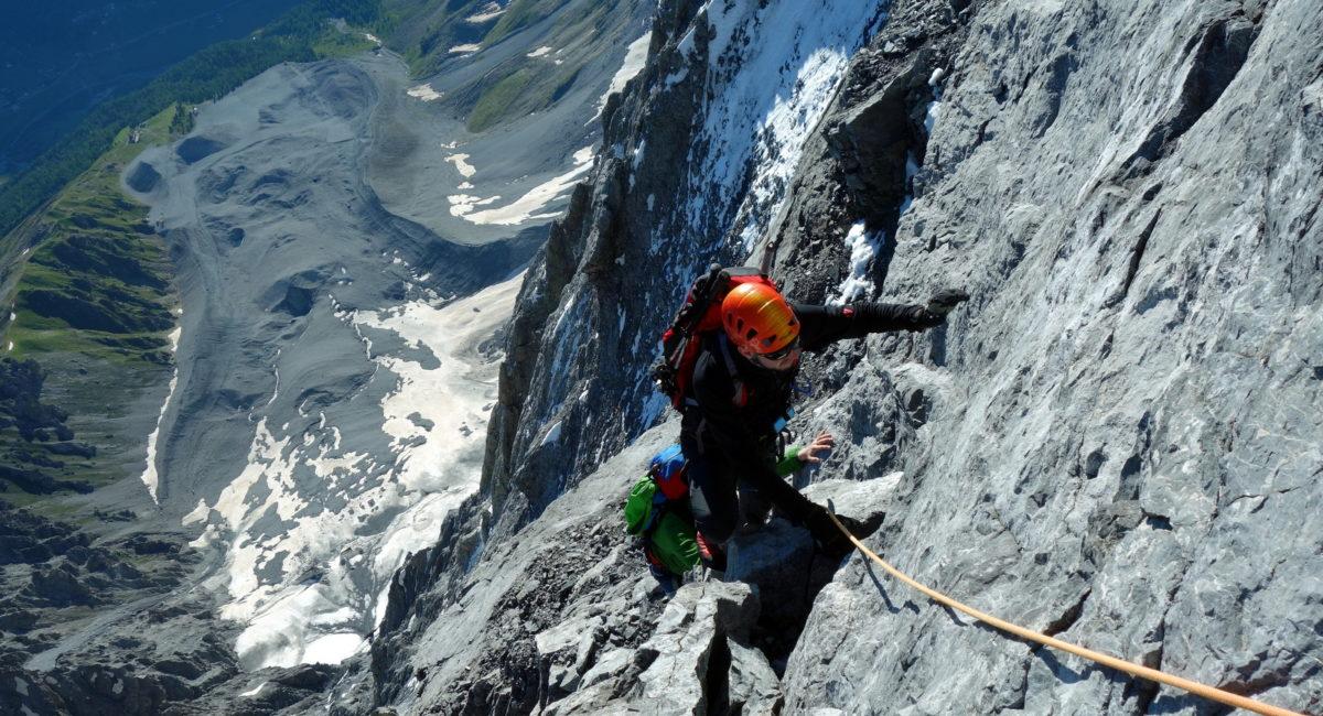 Ortler Hintergrat - Klettern
