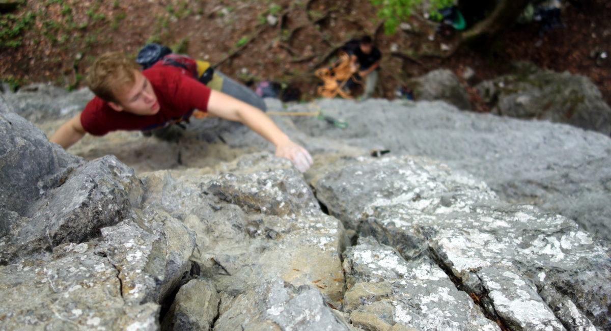 Von der Halle an den Fels - volle Konzentration